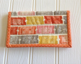 Vintage theatre ticket Kindle cover or sleeve, pouch