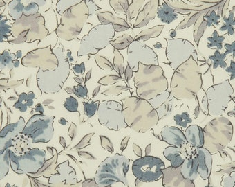 Poppy and Honesty N - Liberty London tana lawn fabric