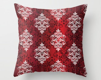 Red Pattern Pillow cover Retro Pillow Throw pillow Cushion covers Pillow case Accent pillow Couch pillow Geometric pillows Pattern Pillow