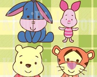 Winnie Pooh Baby Clipart [Digital]