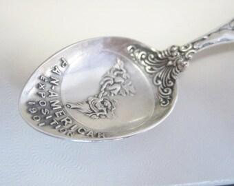 Sterling Demitasse Pan-American Exposition 1901 Souvenir Spoon