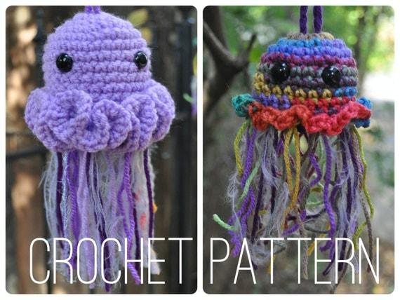 Crochet Patterns Jellyfish : Crochet Pattern - Jellyfish Pouches by OfMars on Etsy