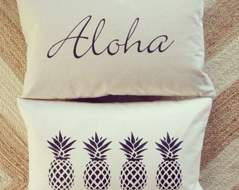"Free Shipping- Aloha Pillow Cover 16"" x 24"""