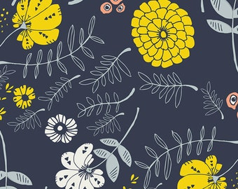 Meadow Vale Dark - Tule collection by Leah Duncan for Art Gallery Fabrics