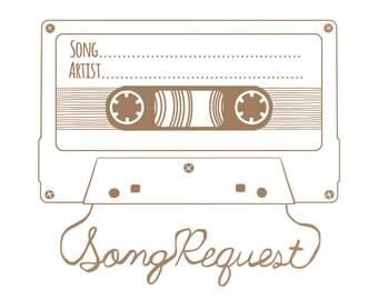 Song Request Mixtape & RSVP Card- Digital Design (Front and Back)