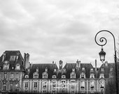 Paris Photography - Black and White Print Art - Romantic Monochromatic Wall Decor - Love Gift Idea for Her - Architecture Christmas Gift