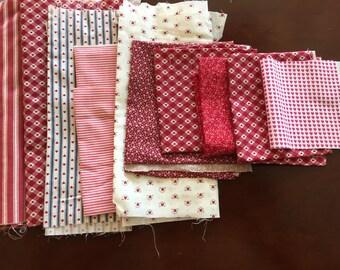 Destash Cotton Fabric - Reds