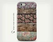 iPhone 6 Case, Cute iPhone 5 Case, Girly iPhone 6 Case, Floral Art Case, iPhone 6 Plus Case, Vintage Wood iPhone Cases, Pretty iPhone 7 Case