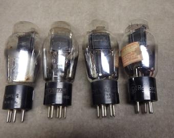 four #47 vacuum tubes TV-7 test good.