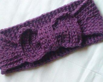 Knit Look Crochet Headband, Ear Warmer, Crochet Pattern, Two way Ear Warmer. Knit-Look