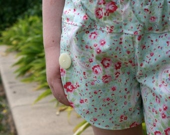 Girls tulip shorts - floral