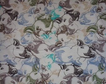 42 Inches Sleeping Pig Flannel Fabric
