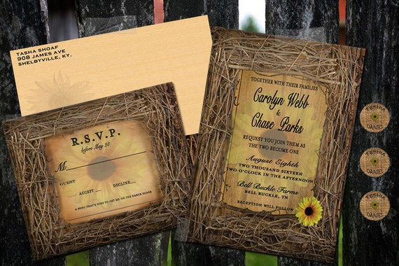 Cheap Sunflower Wedding Invitations: Wedding Invitations Sunflower Invitations By