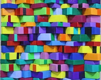 xxl abstrakt art painting acryl wood 60 x 60  cm  24 x 24  inch