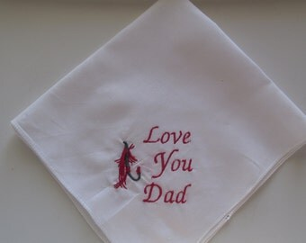 Men's Embroidered Handkerchief, Dad Handkerchief