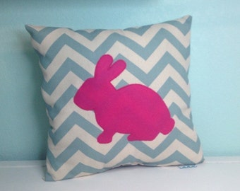 Spring Easter Bunny Pillow (choose your color)