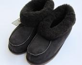sheepskin slippers men's booties size us11 eu44 uk10 black
