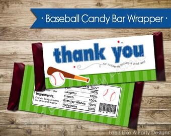 Slugger Baseball Candy Bar Wrapper - Instant Download