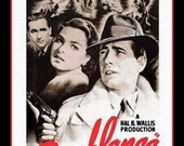 Fridge Magnet Casablanca movie poster image,  Film Classic, of all the gin joints in all the towns in all the world, she walks into mine