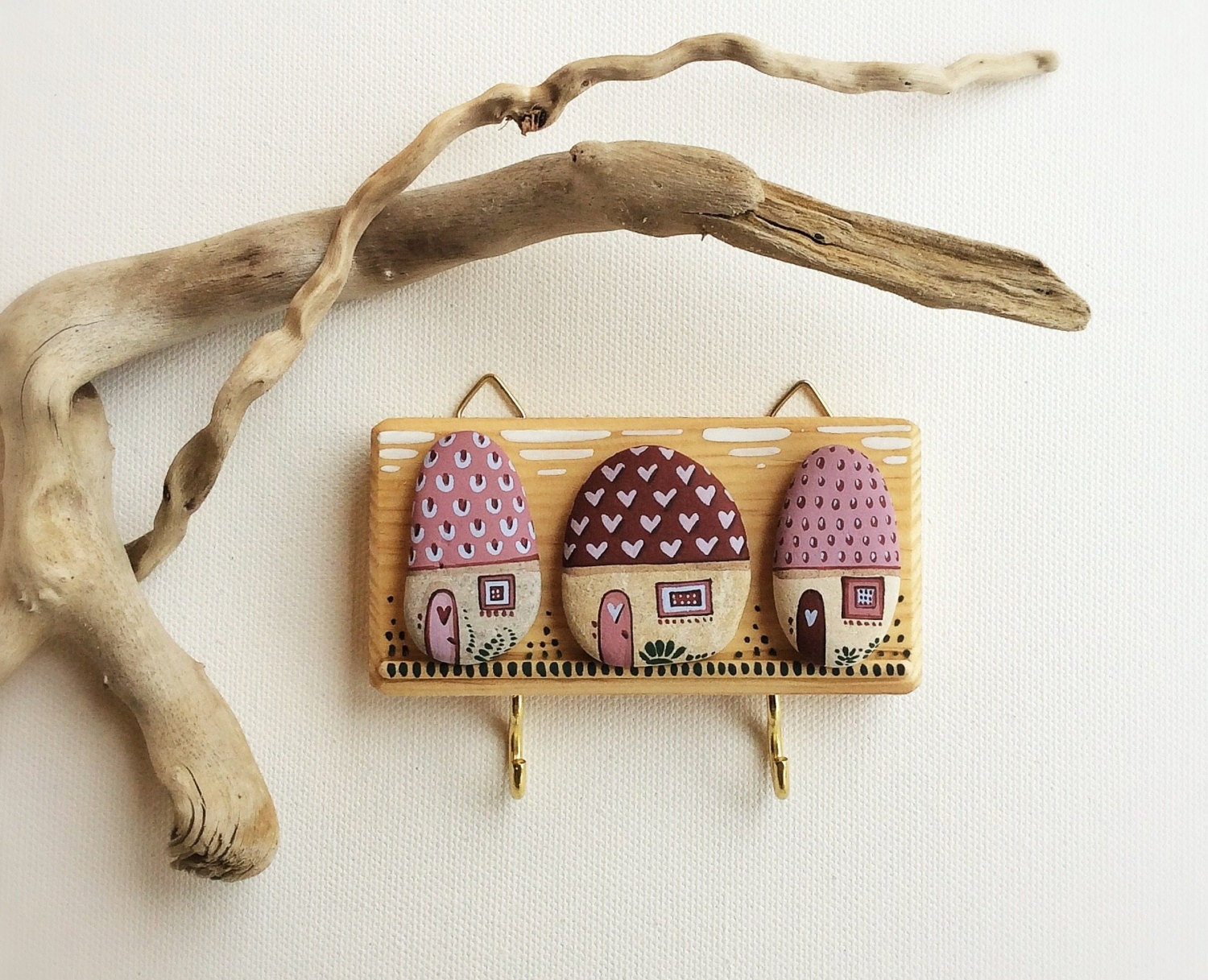 Small Key Wall Decor : Key holder wall hook wood decor