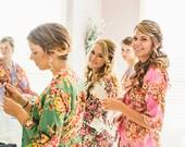 Bridal Party Robes, Bridesmaid Robes,  Kimono Robe, Wedding Robe, Bridesmaid Gift, Monogrammed Robe,  Bridal Shower Robes