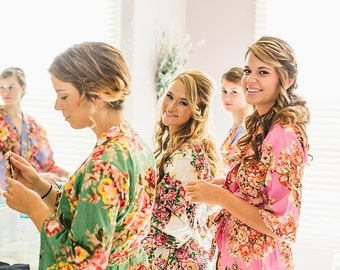 Monogrammed Robe, Bridal Party Robes, Kimono Robe, Bridesmaid Robes, Wedding Robe, Bridesmaid Gift, Bridal Shower Robes, Aztec Dress