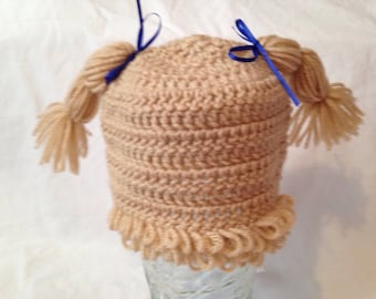 Inspired doll hair hat