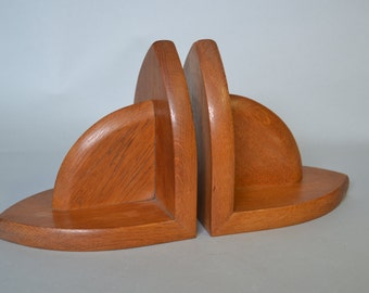 Beautiful art deco  high quality wooden bookends