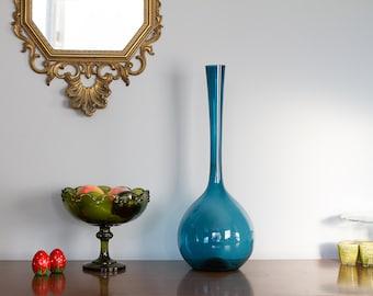 Vintage Art Glass Arthur Percy Gullaskruf Blomglas  Hand Blown
