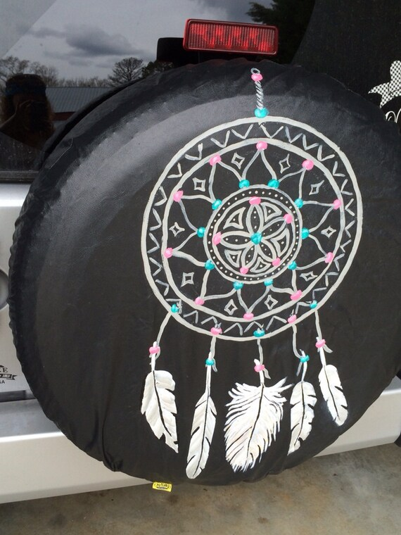 Hand Painted Spare Tire Cover Made To By