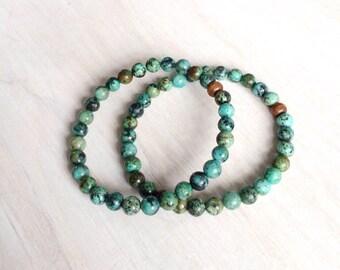 African Turquoise elastic bracelet (2)