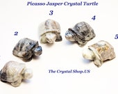 Picasso Jasper Crystal Turtle 2 inch Increase Qualities of Creativity, Loyalty,Nurturing Energies