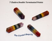7 Chakra Double Terminated Crystal Point Only 2 left!