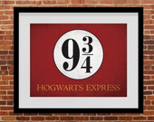 PRINTABLE Harry Potter Platform 9 3/4 Train Station - Instant Download, Train Sign, Hogwarts Express, London Kings Cross Station