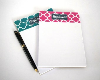 Monogrammed Personalized Stationery Notepad [DYO]
