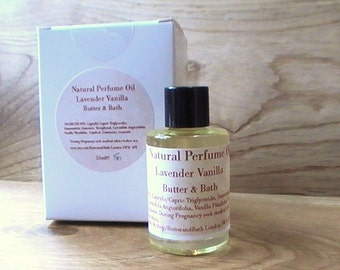 Natural Perfume Oil, Lavender Vanilla, Light Feminine Scent, Warm Vanilla, Vegan Perfume