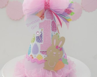 Lil' Eggs and Easter Bunny - My First Easter  - Easter Birthday Party Hat - Personalized