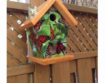 Monarch Butterfly Birdhouse