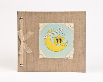 Baby Book - Baby Memory Book - Neutral, Unisex, Twinkle, Baby Album - Twinkle Twinkle Baby Memory Book - Hugs and Kisses XO Baby Memory Book