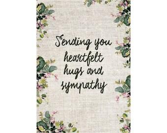 A6 Greeting Card - Heartfelt Hugs Sympathy
