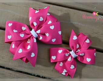 Hot Pink Valentine's Day Pinwheel Bow