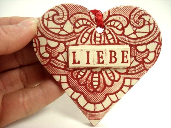 German Wedding Gift Ideas: Liebe Ornament German Valentine German Wedding By