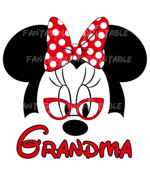 minnie mouse glasses classic red bow silhouette for diy printable iron
