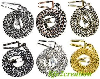 Pocket Watch Chain SteamPunk Victorian Pocketwatch Cosplay Accessory Vest Chain fob chain