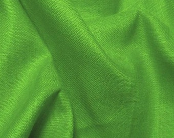 Linen Fabric By the Yard Italino 3.8oz - KELLY GREEN European Linen