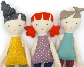 Kiddos Cloth Doll Set PDF Sewing Pattern