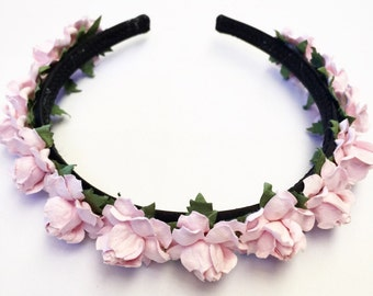 Baby Pink Mini Floral Rose Headband