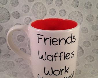 Leslie Knope's list of important things mug