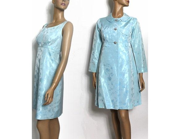 vintage 60er jahre mantel mit passendem kleid blue coat mad. Black Bedroom Furniture Sets. Home Design Ideas