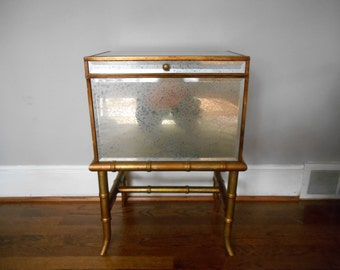 Vintage Hollywood Regency Mirrored Chest Chinoiserie Hollywood Regency Furniture Mirrored Furniture,Vintage Furniture